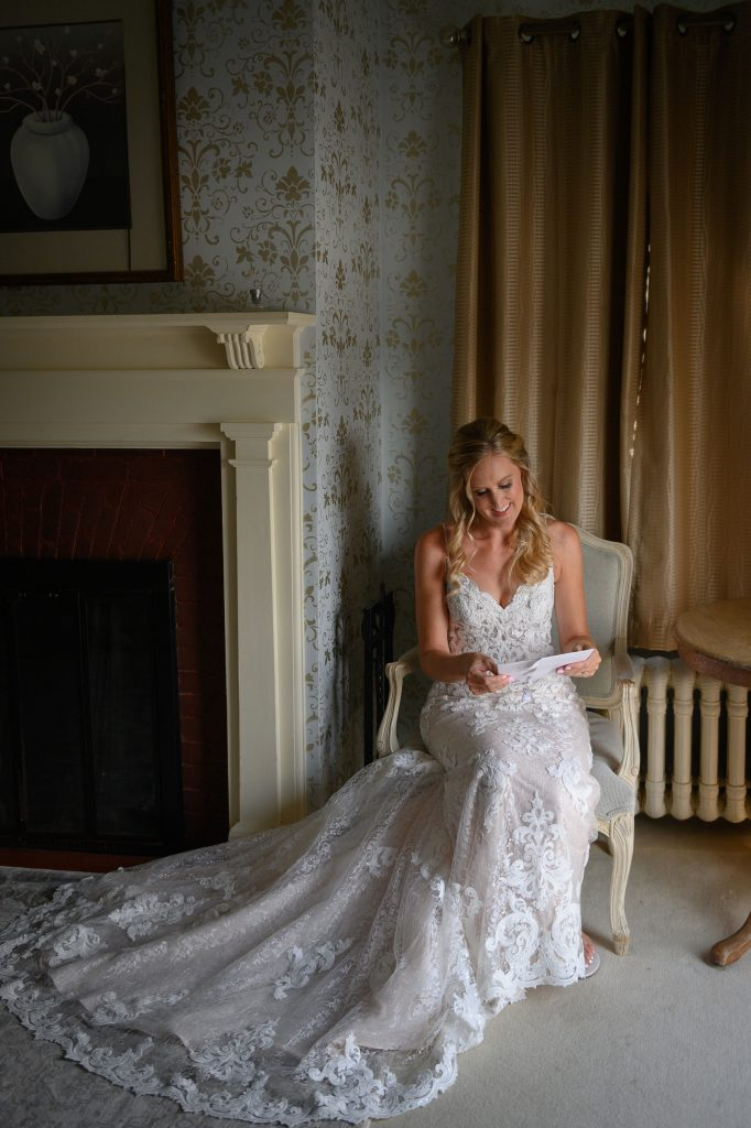 Writing wedding letters to each other is so special. One to the bride is sure to make her tear up while one to the groom is sure to make him eager to see you!