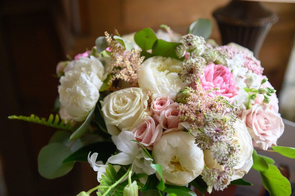 This beautiful summer wedding bouquet is romantic and simple - perfect for a beautiful bride!