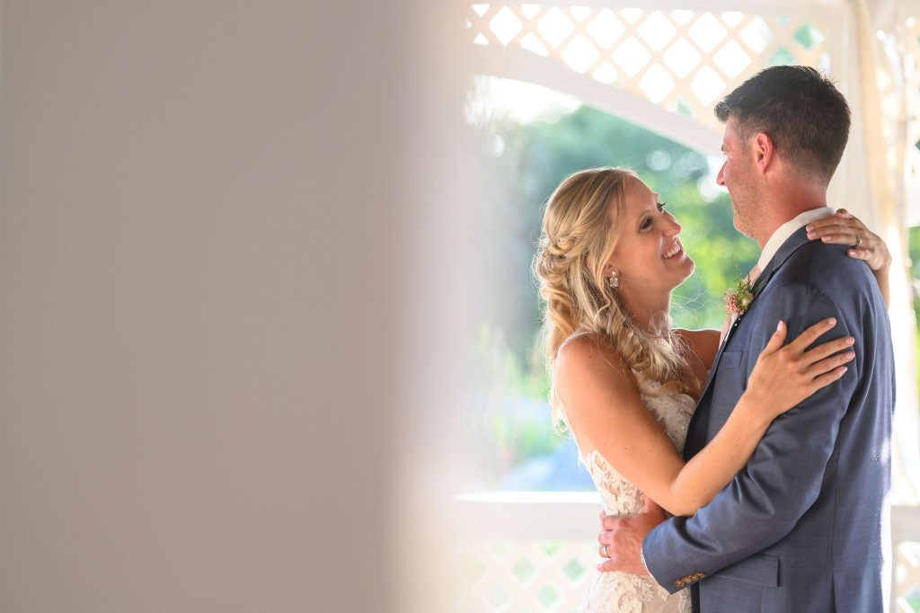 I love this picture of the bride and groom's first dance at their wedding!