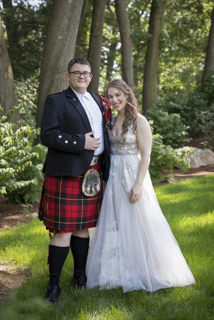 How amazing is the groom's kilt? It's so special when the couple can incorporate things near and dear to them for their special day.