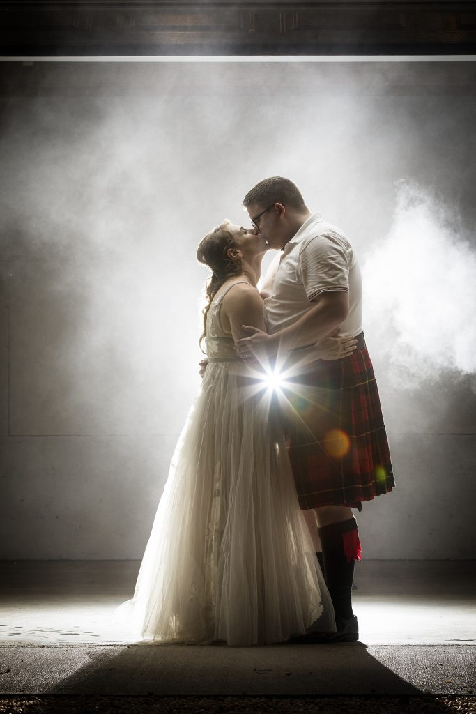 How amazing is this photo? Imagine you've just become husband and wife and no one is around - it's just a magical smokescreen. Stunning.