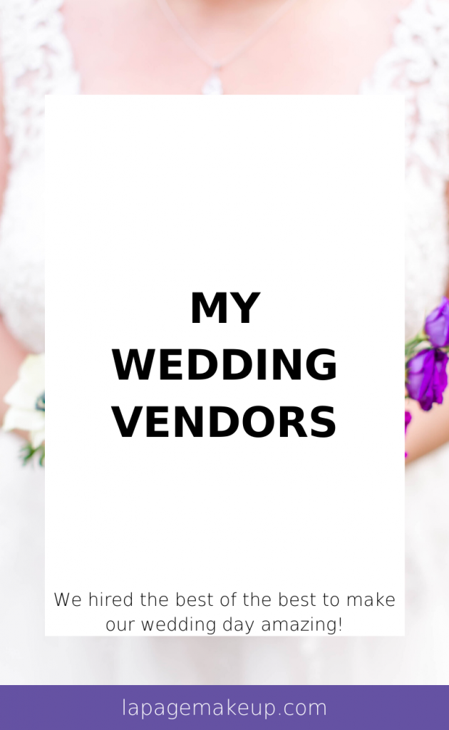 We hired the best of the best to make our wedding day amazing! Check out our list of amazing wedding vendors, including photographer, DJ, hair and makeup, and so much more!