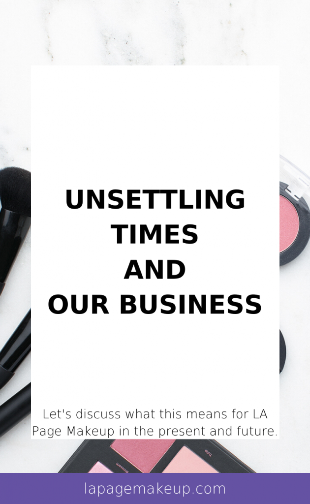 This week we're discussing how the these unsettling times effect our small business and what you can do to help!