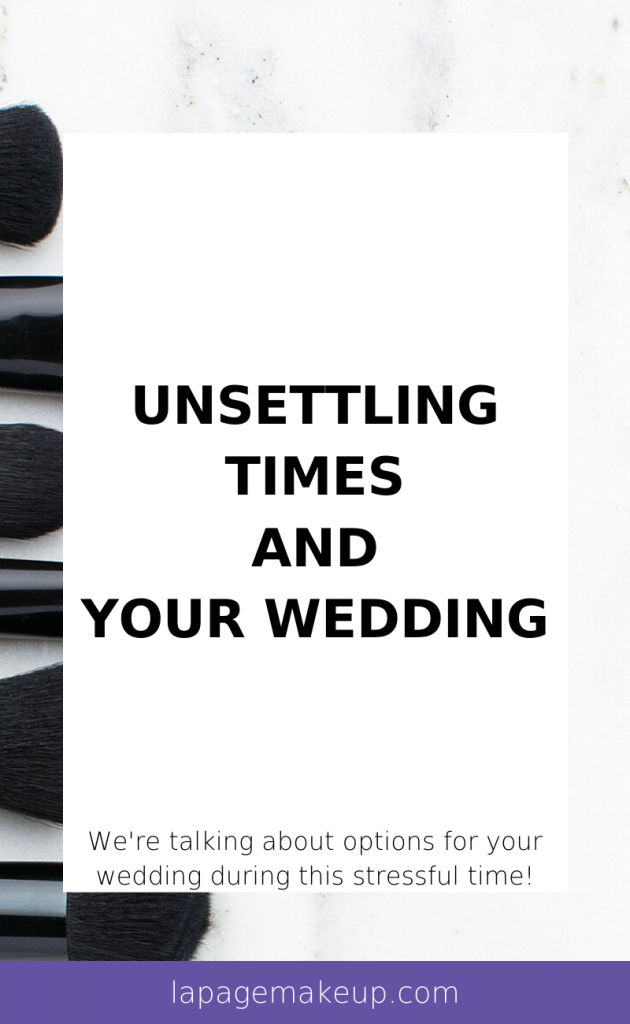 These unsettling times that have been at the forefront of everyone's minds in recent days and weeks. With social distancing and new restrictions getting passed everyday, it's time to talk about the potential situation of postponing your wedding.
