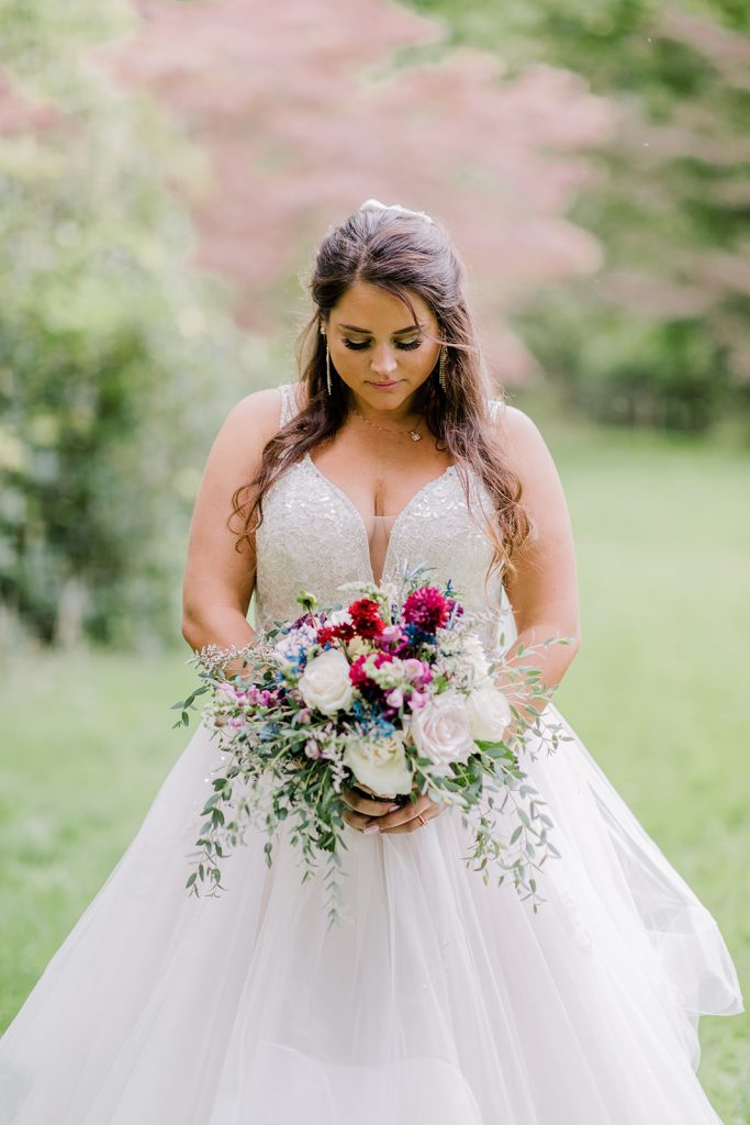 Wedding Hair and Makeup, Wedding Bouquet, Ivory Wedding Gown, Wedding Photo, Bride Photo