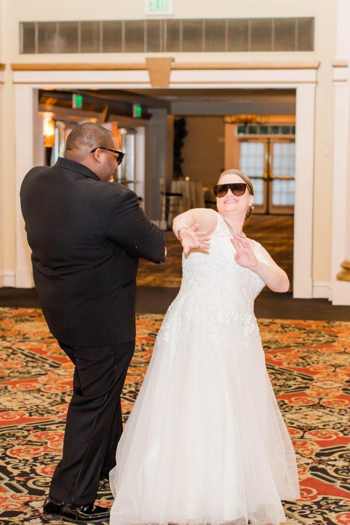 bride and groom wedding reception entrance dance